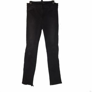 J Brand   black rail distressed skinny jeans